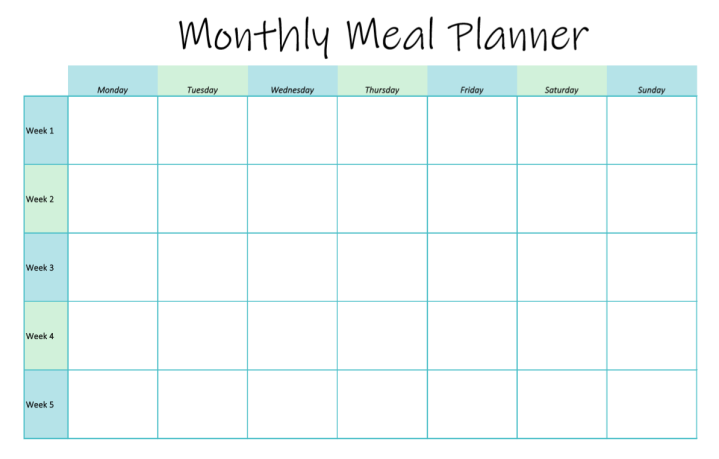 Monthly Meal Planner – Free Download!
